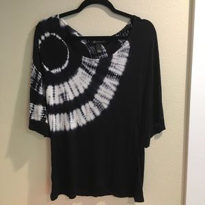 INC black with white tie dye and bling size S
